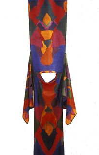 de-constructed painted dress 1972